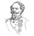 victor emmanuel ii vintage vector image vector image