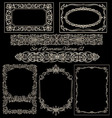 Vintage frames set on blackboard vector image vector image