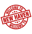 welcome to new haven red stamp vector image vector image