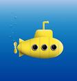 Yellow Submarine Stock vector image vector image