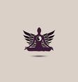 yoga sign logo vector image