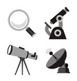 zoom tool search science microscope icon vector image vector image