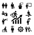 business persons icons vector image