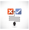 Rejection and approval concept vector image