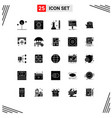 25 user interface solid glyph pack modern