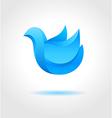 Abstract blue bird vector image