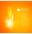 Abstract orange background of industry fire vector image vector image
