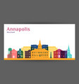 annapolis city architecture silhouette vector image vector image