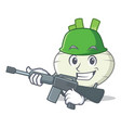 army turnip character cartoon style vector image
