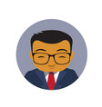 asian business man profile icon chinese or vector image vector image