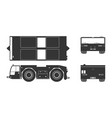 black silhouette of airplane towing vehicle vector image vector image