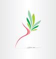 breast cancer healthy breast icon vector image