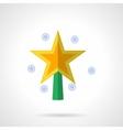 Bright Xmas star flat color icon vector image