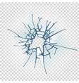 broken window glass realistic daylight design vector image vector image