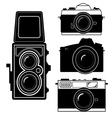 camera vintage camera vector image