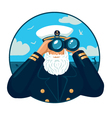 Captain with binoculars vector image