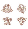Coffee badge food thin line lettering for