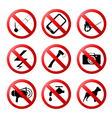 collection of ban road signs vector image