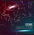 cosmic constellations background abstract vector image vector image