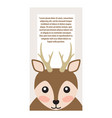 deer with horns animal cover vector image vector image