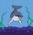 Dolphin background underwater seabed vector image vector image