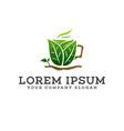 drink leaf green logo design concept template vector image vector image