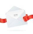 envelope mockup vector image vector image