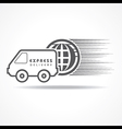 Express Delivery concept for increase the sell vector image vector image