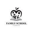 family education logo designs book apple vector image vector image