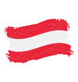 flag of austria grunge abstract brush stroke vector image vector image