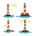 flat design lighthouse lighthouses set isolated vector image vector image