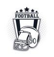 football helmet icon vector image vector image