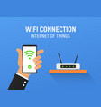 free wifi connection internet vector image vector image