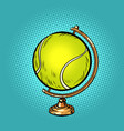 globe international tennis ball sports equipment vector image vector image