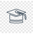graduation concept linear icon isolated on vector image vector image