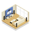 home theater isometric vector image vector image