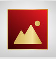 image sign red icon on gold vector image vector image