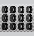 isolated tire or wheel for truck or bus vector image vector image