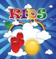 kids 4 vector image