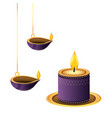 lanterns oil candles hanging vector image vector image