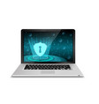 laptop with security system vector image