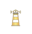 Lighthouse computer symbol vector image vector image