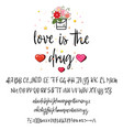 love is the drug handwritten fonts analog vector image vector image