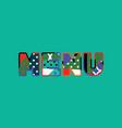 menu concept word art vector image vector image