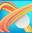 modern abstract background with waves and lines vector image vector image