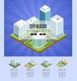 modern city blocks isometric infographics vector image