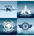 Mountain Adventures Compositions vector image vector image
