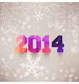 numbers 2014 colorful numbers Elegant Christmas vector image vector image