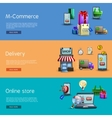 Online Shopping Banners Set vector image vector image