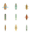passenger boat icons set cartoon style vector image vector image